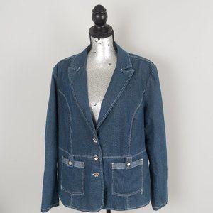 Lana sport cotton/denim blazer - sz 22